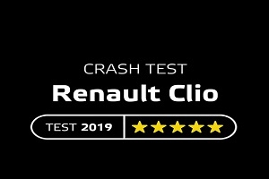 Crash test of the updated Renault Clio